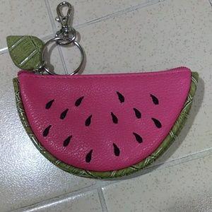 Watermelon slice coin purse keychain